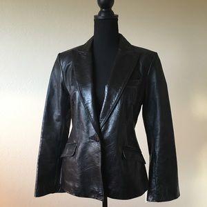 Express genuine black leather jacket